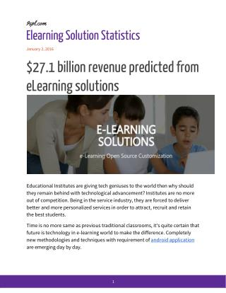 $27.1 billion revenue predicted from eLearning software development companies