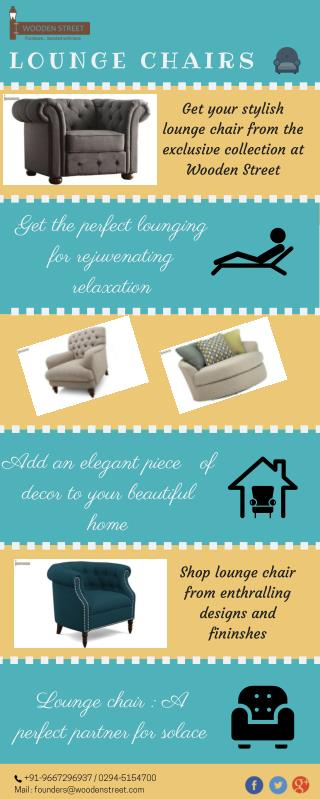 Fascinating range of lounge chairs online @ Wooden Street