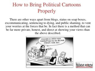How To Sketch Political Cartoons Effectively