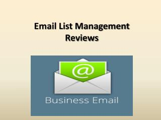 Email List Management Reviews