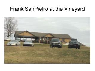 Frank SanPietro at the Vineyard