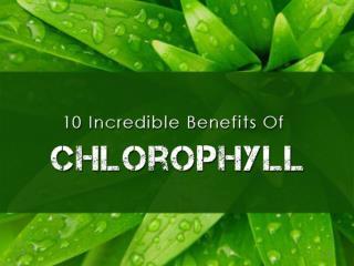 10 Incredible Benefits Of Chlorophyll