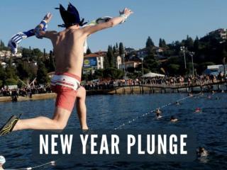 New Year plunge