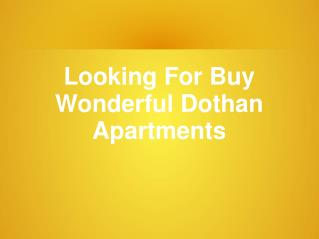 Know More About Dothan Apartments