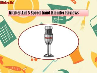 KitchenAid 5 Speed Hand Blender Reviews