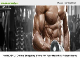 AMINOS4U: Online Shopping Store for Your Health & Fitness Need