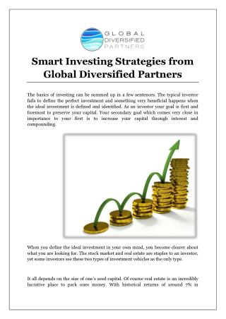 Smart Investing Strategies from Global Diversified Partners