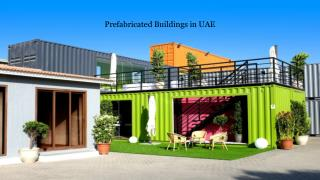 Prefabricated Building Suppliers in UAE