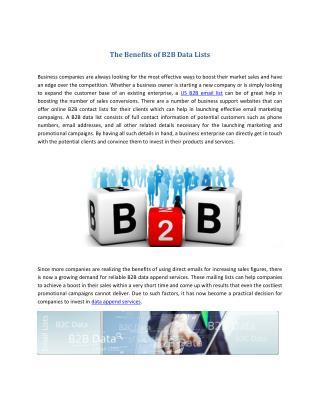 The Benefits of B2B Data Lists