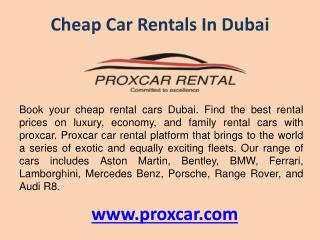 Cheap Car Rentals in Dubai