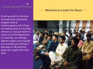 Find the best spiritual counseling only at Centeronpeace.com