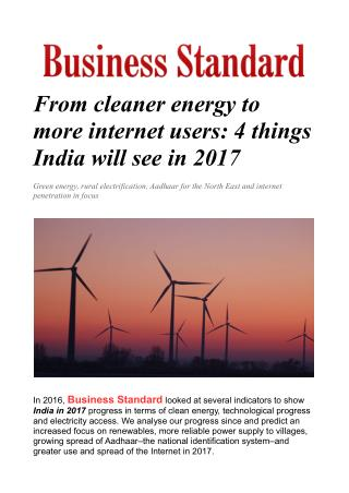 From cleaner energy to more internet users: 4 things India will see in 2017