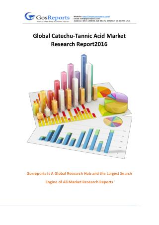 Global Catechu-Tannic Acid Market Research Report 2016