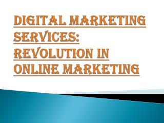 Online Marketing and it's Revolution