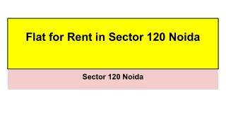 Flat for Rent in Sector 120 Noida