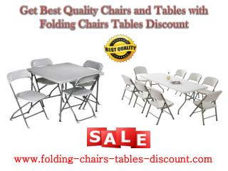 Get Best Quality Chairs and Tables with Folding Chairs Tables Discount