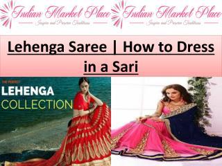 Lehenga Saree   How to Dress in a Sari