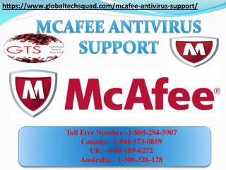 McAfee Antivirus Support in USA Call Toll Free 1-800-294-5907