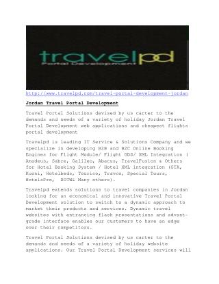 Jordan Travel Portal Development