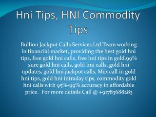 HniCallsInCommodity