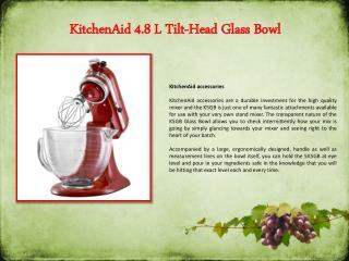 KitchenAid 4.8 L Tilt-Head Glass Bowl