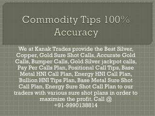 Commodity Silver Tips Perfect