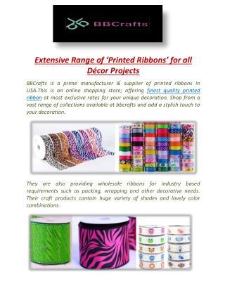 Shop for Variety of Animal Printed Ribbon