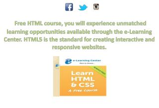 Free Online HTML Courses