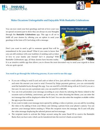 Make Occasions Unforgettable and Enjoyable With Bankable Celebrations