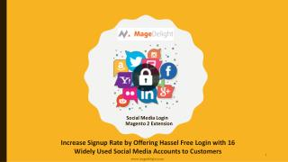 Magento 2 Social Media Login Extension Offers Hassle free login with social media account
