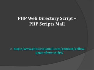 PHP Web Directory Script – PHP Scripts Mall