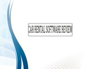 Compare Best & Top Car Rental Software Reviews