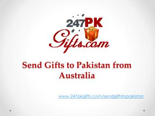 Gifts to Pakistan from Australia