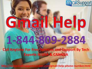 Efficient & Reliable Gmail Help in seconds via 1-844-809-2884