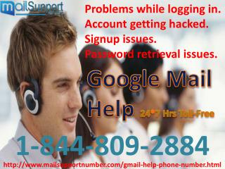 Ring on 1-844-809-2884 Google Mail Help Desk against Spammers & Hackers