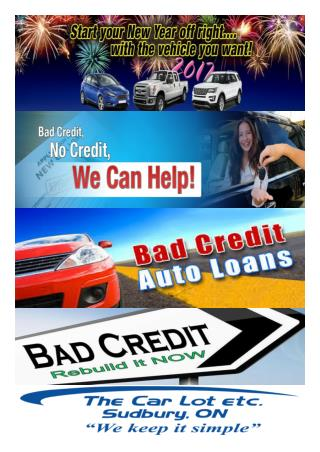 Car Loan For Bad Credit in Sudbury