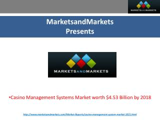 Casino Management Systems Market by Advancements, Technology & Services
