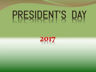 Happy Presidents day 2017