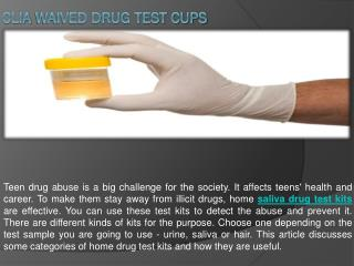 Clia Waived Drug Test Cups