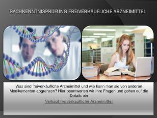 Sachkenntnisprüfung freiverkäufliche Arzneimittel