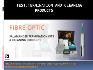 Presentation for Fibre Optic Cleaning Products