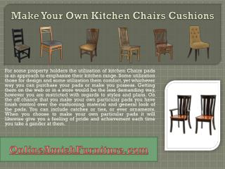 Make Your Own Kitchen Chairs Cushions