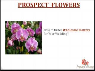 Prospect Flowers is Best Wholesale Wedding Flowers in India