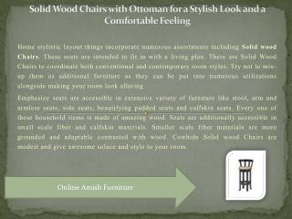Solid Wood Chairs with Ottoman for a Stylish Look and a Comfortable Feeling