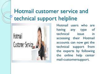 Hotmail Customer Service Helpline
