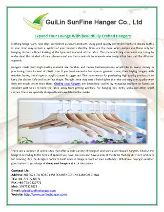 Expand Your Lounge With Beautifully Crafted Hangers