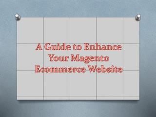 A Guide to Enhance Your Magento Ecommerce Website