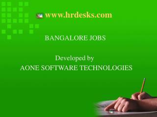 hrdesks bangalore jobs