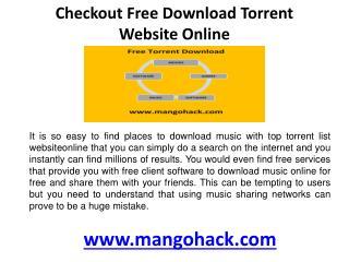 Checkout Free download torrent website online