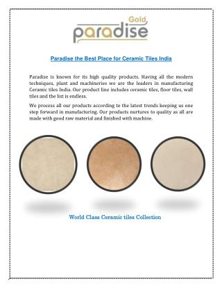 Paradise - Right Place for Modern Ceramic Tiles India